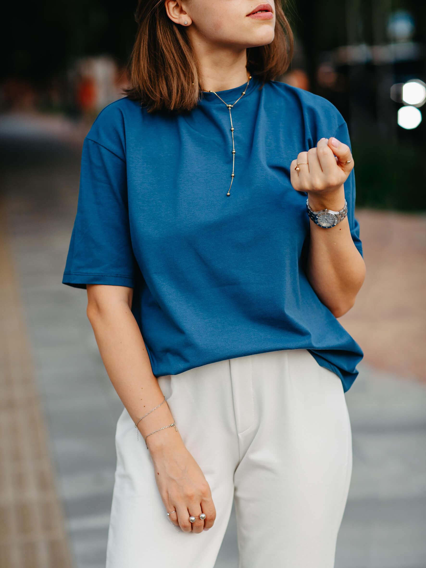 футболка оверсайз женская